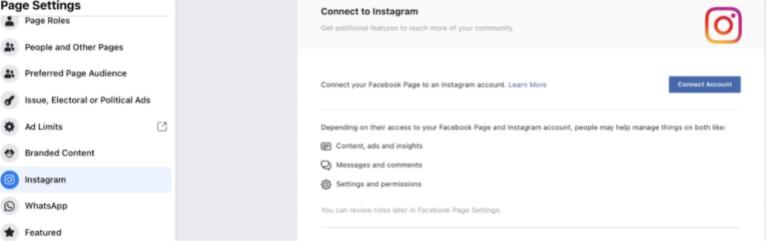 اربط ملفك الشخصي على Instagram بصفحتك على Facebook