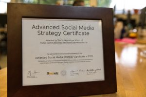 Advanced Social media strategy certificate
