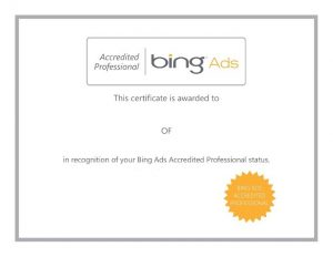 Bing Ads Accredited Profesional