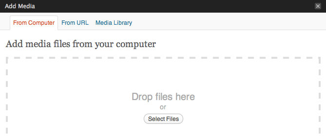 Upload images and files to WordPress