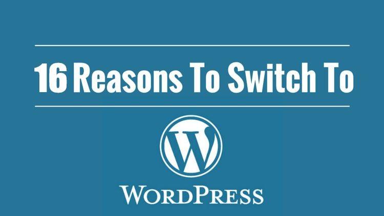 16 سبب لتحويل موقعك إلي ووردبريس