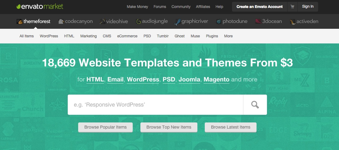 WordPress designs and templates