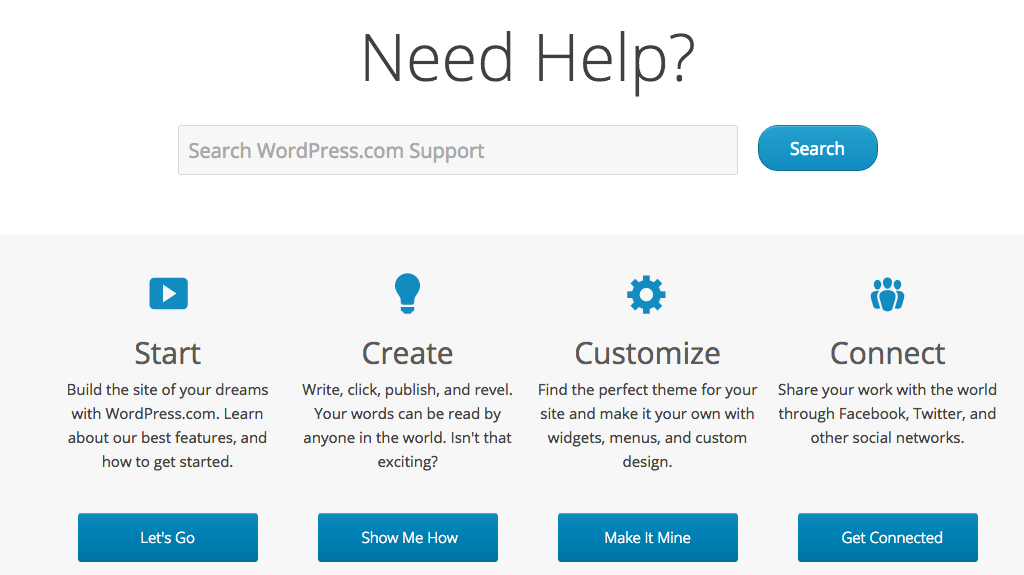 WordPress support forums and articles