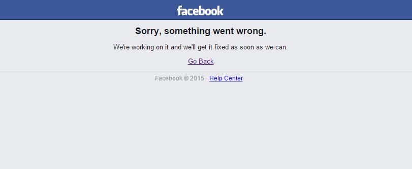 الفيس بوك لا يعمل
